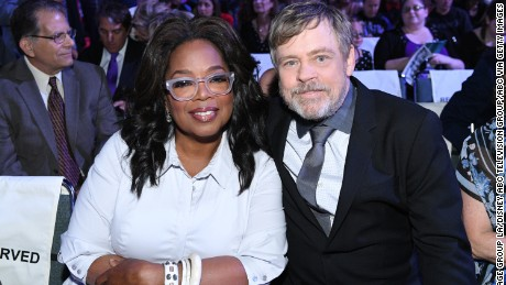 Oprah Winfrey and Mark Hamill at the D23 Expo.