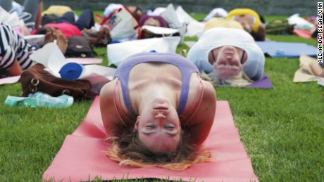 Nearly 3,000 people registered to take part in International Day of Yoga activities at the UN.
