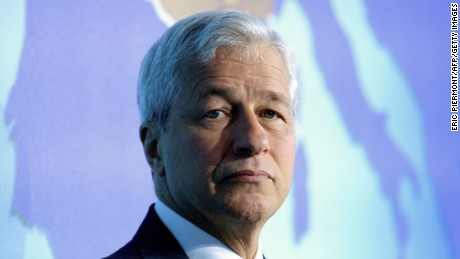 JP Morgan Chase's Chairman and CEO Jamie Dimon attends a session at the Paris Europlace international financial forum in Paris on July 11, 2017. / AFP PHOTO / ERIC PIERMONT        (Photo credit should read ERIC PIERMONT/AFP/Getty Images)