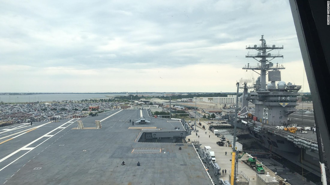 The USS Gerald Fordu0026#39;s Flight Deck View From The Carrieru0026#39