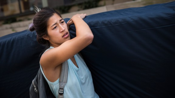 Emma Sulkowicz's protest doubled as her senior thesis project.