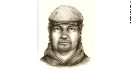 Police have now released this sketch to help in the search.