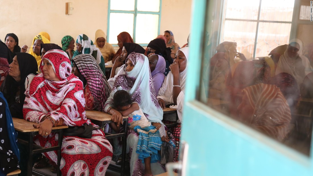 "Members of an Agadez women's group listen during a workshop led by the US Army. ""The closer we build a relationship with a local community wherever we are, it helps maintain our safety, it helps to maintain our security,"" says Captain Kyle Staron."
