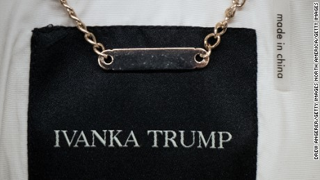 NEW YORK, NY - FEBRUARY 10: A view of the tag of an Ivanka Trump brand coat for sale at the Century 21 department store February 10, 2017 in New York City. According to a market research firm Slice Intelligence, Ivanka Trump merchandise saw a 26 percent dip in sales in January 2017 compared to January 2016. Kellyanne Conway, a senior counselor to President Donald Trump, has been accused of ethics violations for promoting the Ivanka Trump fashion line during a television interview on Thursday. (Photo by Drew Angerer/Getty Images)