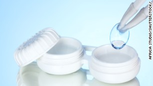 Do you wear contact lenses? You should switch to glasses to stop spreading the virus