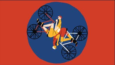 Illustration of Tour de France big loop menu