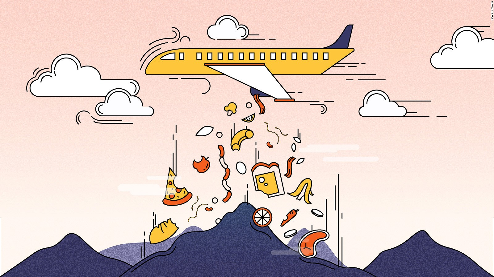 Cabin waste: Can airlines reduce trash, toss less food