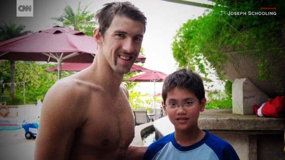 The photo of a young Joseph Schooling meeting his idol in Singapore went viral during the Olympics.