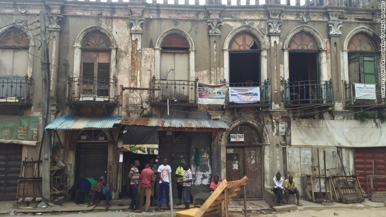 The ageing facades of Campos, Lagos.