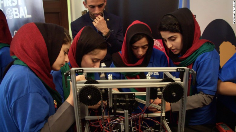 Afghan girls compete in robotics competition