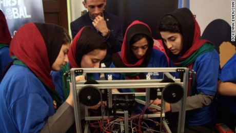 All-girl robotics team symbolizes a new Afghanistan