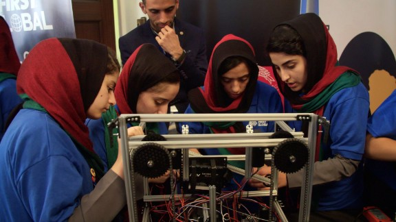 The Afghan robotics team prepares for the FIRST Global competition. The team was twice denied entry in the United States until President Trump intervened.