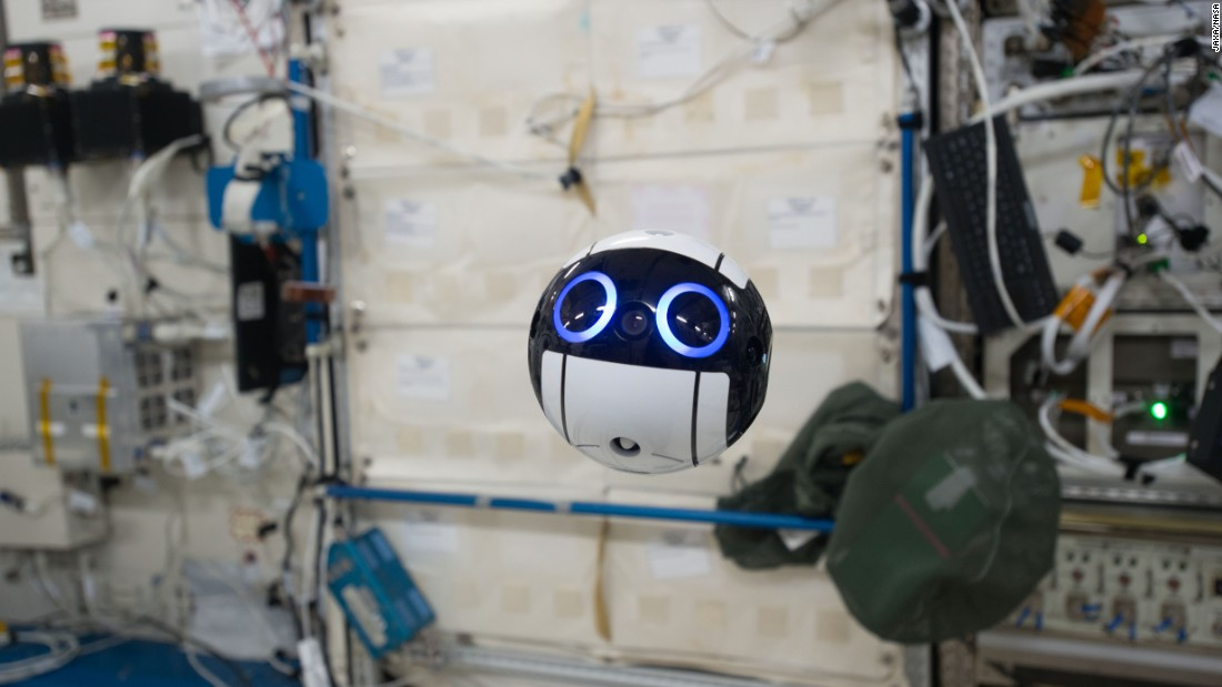 "No gravity? No problem. The Japanese Aerospace Exploration Agency's JEM Internal Ball was dispatched to the International Space Station in June 2017 to take photos and videos of astronauts at work. If that sounds like vanity, it's estimated ISS occupants spend approximately 10% of their working hours photographing their findings. <a href=""/2017/07/18/tech/cute-japanese-space-drone/index.html"" target=""_blank""><strong>Read more.</a></strong>"