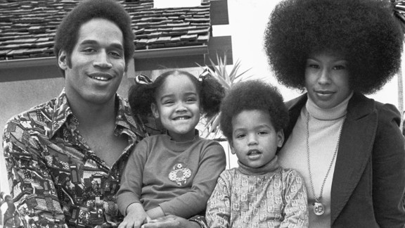 Simpson with his wife, Marguerite Whitley, his daughter Arnelle and son Jason, circa 1974. The couple were married from 1967 to 1979. They had another daughter, Aaren, who died as a toddler in a drowning accident.
