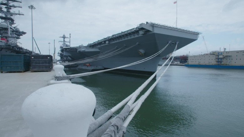 America's new carrier, the USS Gerald R  Ford