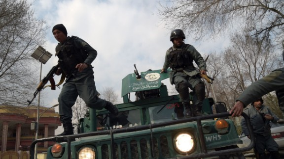 Afghan police in March