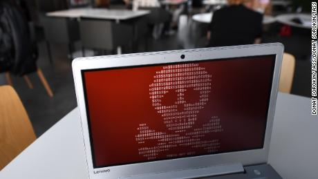 YEKATERINBURG, RUSSIA - JUNE 28, 2017: A computer hacked by a virus known as Petya. The Petya ransomware cyber attack hit computers of Russian and Ukrainian companies on June 27, 2017. Donat Sorokin/TASS (Photo by Donat Sorokin\TASS via Getty Images)