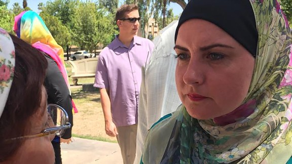 Deedra Abboud, right, campaigns for next year