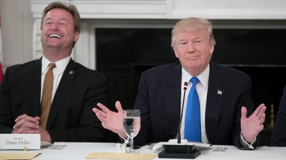 President Donald Trump played a key role in getting Nevada Sen. Dean Heller's primary challenger to drop out, and in convincing Rep. Kevin Cramer to run for the Senate in North Dakota.