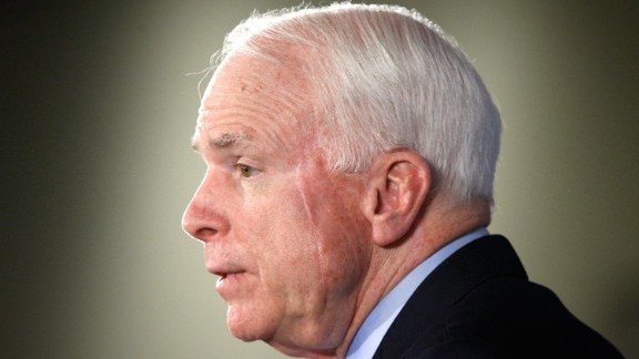 WASHINGTON - DECEMBER 15:  U.S. Sen. John McCain (R-AZ) addresses the Heritage Foundation December 15, 2009 in Washington, DC. Sen. McCain spoke on the war in Afghanistan and President Obama