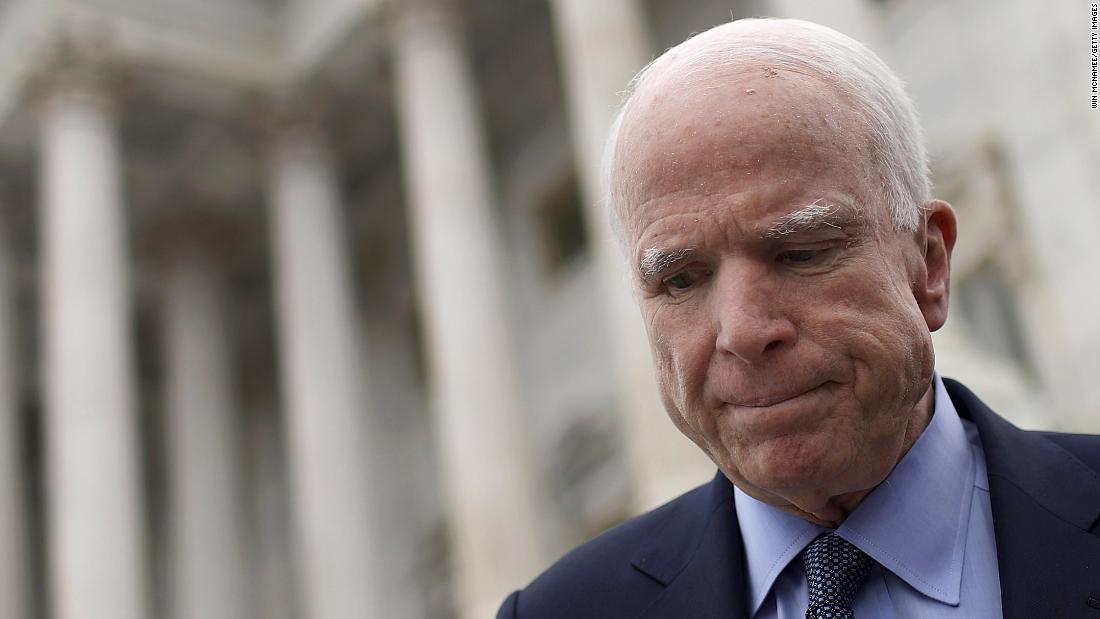 Image result for McCain's last message read aloud as Washington returns to work without him