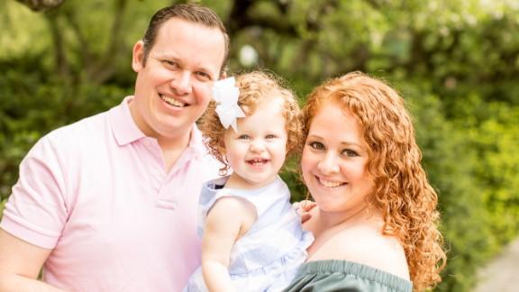 Samantha Golkin-Nigliazzo, shown with her husband, David Nigliazzo, and their daughter.