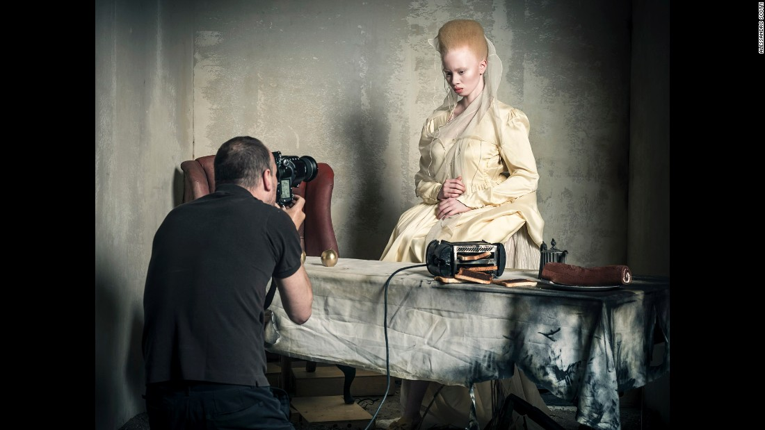 South African model and lawyer Thando Hopa is photographed as the Princess of Hearts.