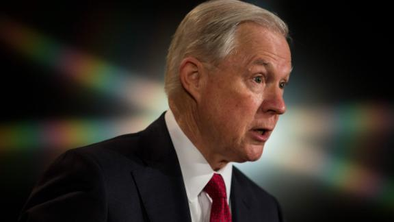 WASHINGTON, D.C. - FEBRUARY 28: U.S. Attorney General Jeff Sessions delivers remarks at the Justice Department