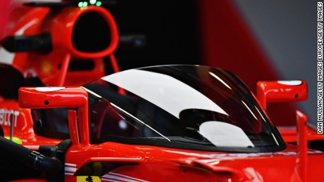 "Ferrari's Sebastian Vettel trialed a ""Shield"" safety device at the recent British Grand Prix weekend."