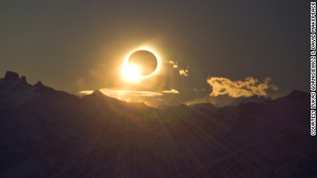 Filmmaker David Makepeace captures a total solar eclipse during a 2010 trip to Patagonia.