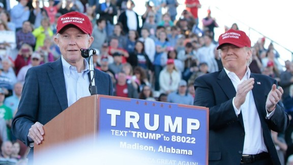On February 28, 2016, in Madison, Alabama, Sessions becomes the first senator to endorse Donald Trump for president.