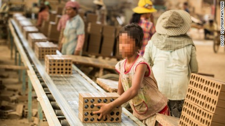 At brick factories outside of Phnom Penh, CNN saw children involved in the brick-making process.