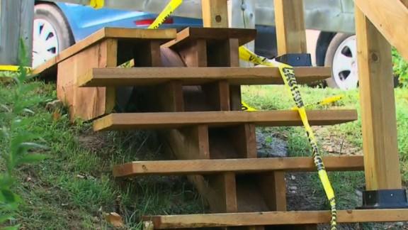 Astl's eight steps help residents navigate a steep slope.