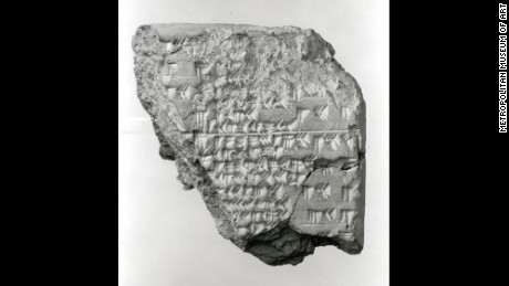 Cuneiform tablet from Mesopotamia describing an eclipse.