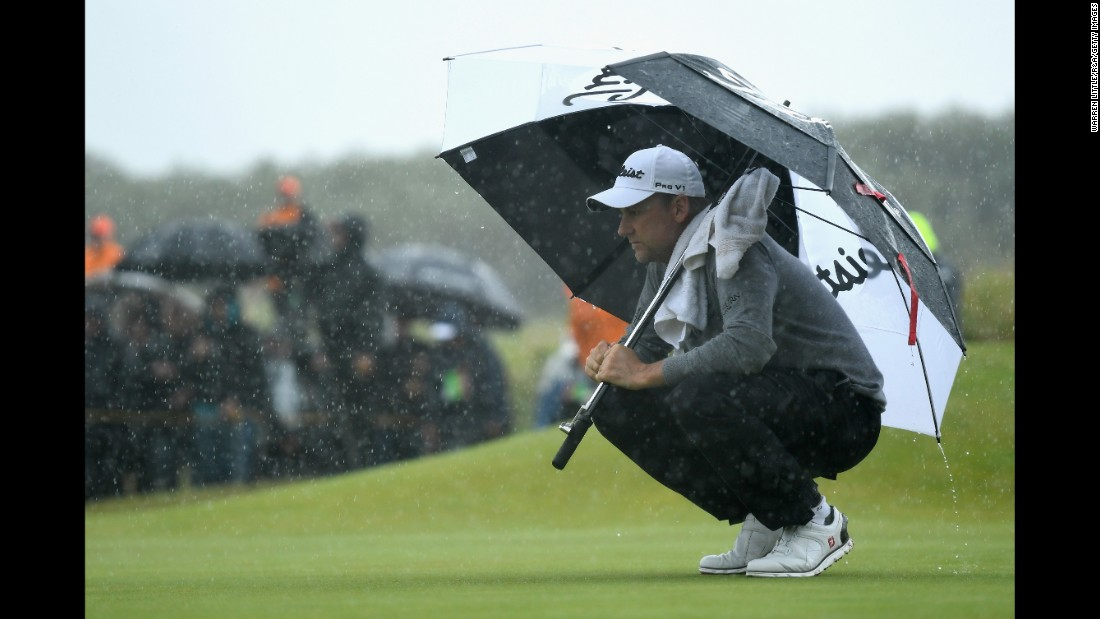 England's Ian Poulter was second at Royal Birkdale in 2008 and ended in a tie for third at halfway Friday.