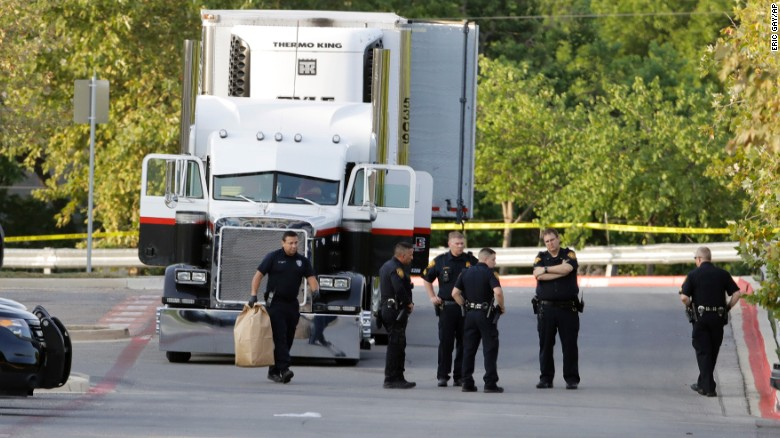 Sweltering truck leaves 10 migrants dead