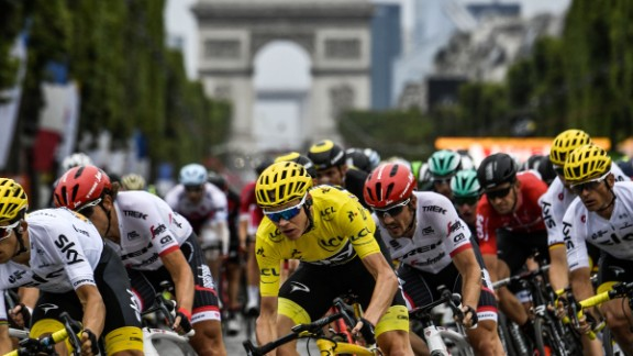 """""""Each time I've won the Tour it's been so unique, so different, such a different battle to get to this moment,"""" said Froome."""
