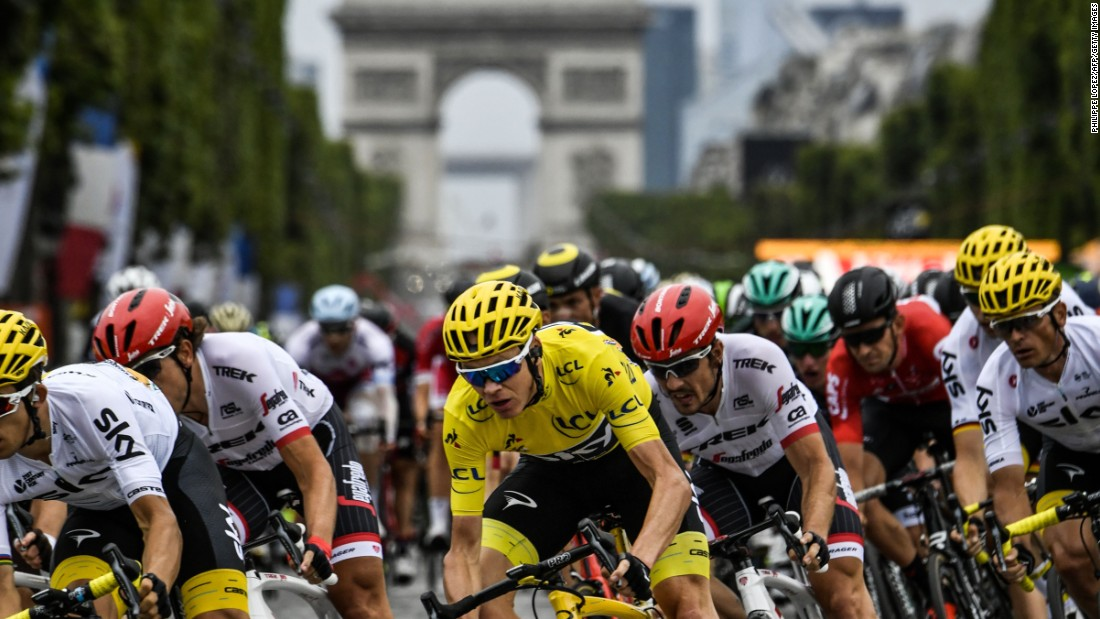 """Each time I've won the Tour it's been so unique, so different, such a different battle to get to this moment,"" said Froome."
