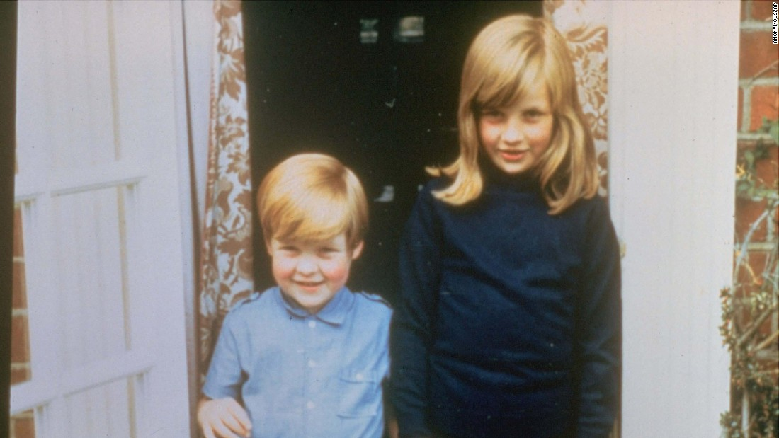 Diana poses with her brother, Charles, in 1968. She also had two sisters, Sarah and Jane.