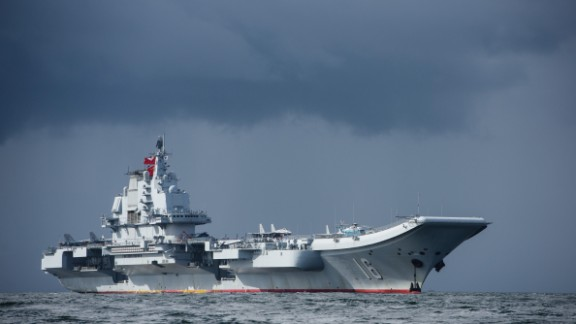 The Chinese aircraft carrier Liaoning arrives in Hong Kong in this 2017 file photo.