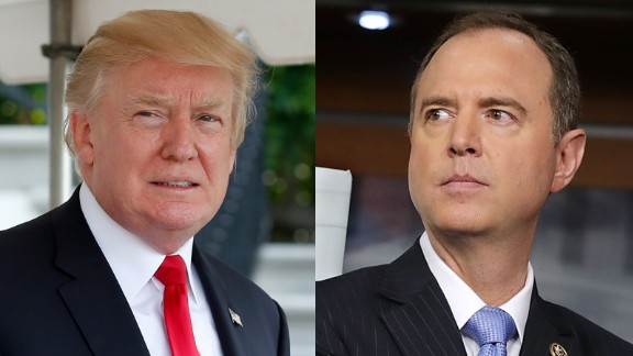 President Donald Trump and Democratic Rep. Adam Schiff