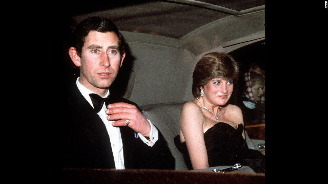 Diana and Charles arrive at Goldsmith Hall in London for a charity recital in March 1981.