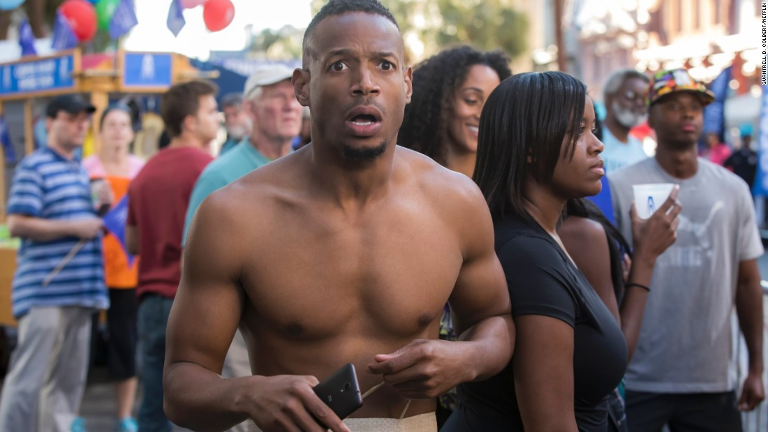 "<strong>""Naked"": </strong>Marlon Wayans stars as a man who wakes up naked in an elevator on the day of his wedding -- over and over again ""Groundhogs Day"" style. <strong>(Netflix) </strong>"