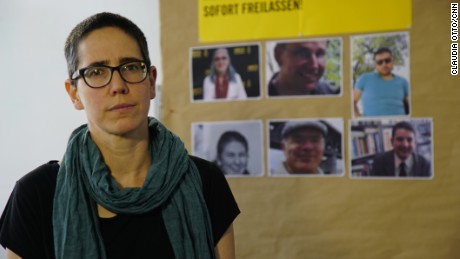 "Magdalena Freudenschuss says her partner's detention in Turkey is ""a threat for everyone."""