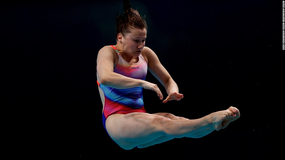 A new swimming and diving arena -- the Dagaly Budapest Aquatics Complex --<strong> </strong>was opened on the eastern bank of the Danube ahead of the championships. Tina Punzel of Germany (pictured) finished sixth in the women's 1M final.