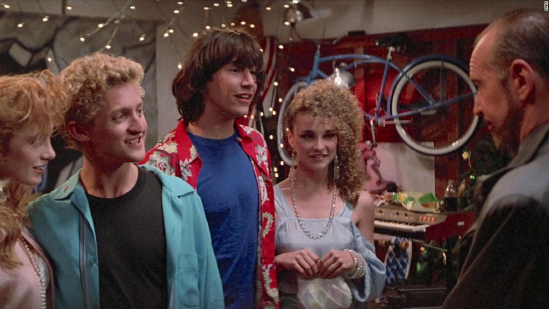 "<strong>""Bill & Ted's Excellent Adventure"": </strong>A pair of teens use a time machine to try and prepare for a historical presentation. <strong>(Amazon Prime, Hulu)</strong>"