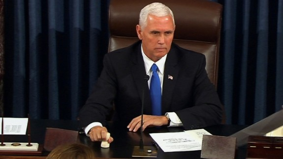 Vice President Mike Pence cast the tie-breaking vote