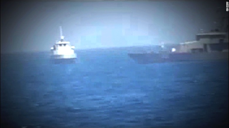 Video shows US Navy, Iranian boat escalation