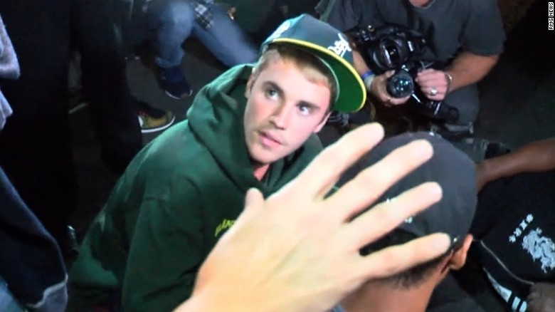 Bieber hit paparazzo with truck, police say