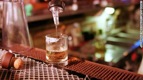 379350 06: A shot of tequila is poured September 28, 2000 at La Hacienda in El Paso, Texas. Up to 40 percent of the firms making Mexico's tequila may halt production because of a chronic shortage of their main raw ingredient, the cactus-like agave plant. With the increase of tequila's popularity the demand has past the amount of supply. (Photo by Joe Raedle/Newsmakers)